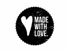 Okrúhla pečiatka - MADE WITH LOVE