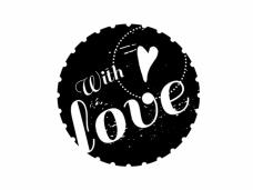 Okrúhla pečiatka - with love