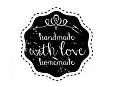 Okrúhla pečiatka - handmade with love homemade