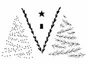 Silikónové pečiatky 9x14cm - vianočný stromček