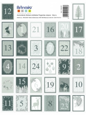 Nálepky adventné čísla Misty Winter