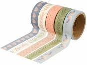 Lepiaca páska (masking tape) vzorovaná 5 x 15 mmx5m - Love story