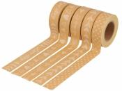 Lepiaca páska (masking tape) vzorovaná 5 x 15 mmx5m - Love story kraft