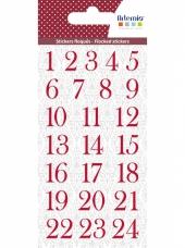 Filcové adventné čísla červené