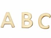 Drevená abeceda - 13 mm - 162 ks