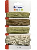 Dekoračné stužky a nite - 4x10m - zlaté