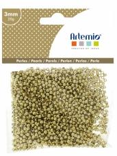 Perličky 3mm 20g - zlaté