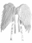 Anjelské krídla z peria - 50x40cm - biele