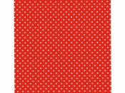 Filc 1 mm 30 x 30 vzorovaný - červený s bodkami