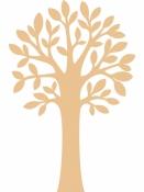 Drevené výrezy 3 ks - listnatý strom