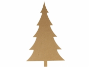MDF silueta - vianočný stromček 15 cm