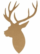 MDF silueta - jeleň profil 25 cm