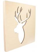 Drevený rám - jeleň profil 30x30x2cm