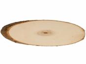 Drevená podložka - kmeň - oválna - 37-42cm