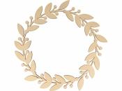 Drevený výrez veniec/kruh kvet - 35cm