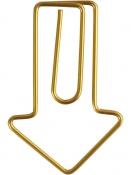 Sponky na papier 6ks - šípky - zlaté