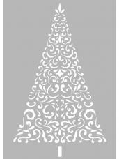 Šablóna 10x15cm - vianočný stromček