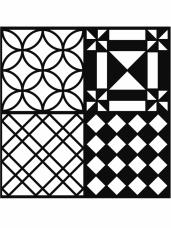 Šablóna 30 x 30 cm - ornamenty