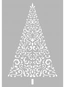 Šablóna A4 - vianočný stromček