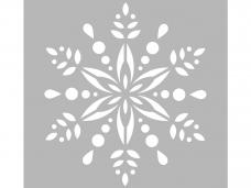 Šablóna 15x15 cm - folk vločka