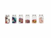 Plastové dózy na maličkosti - 6ks