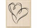 Drevená pečiatka - srdcia