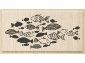Drevená pečiatka - rybka