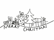 Drevená pečiatka - MERRY CHRISTMAS