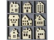 Dýhové výrezy - 45 ks - domčeky