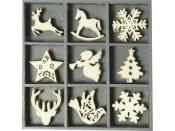 Dýhové výrezy - 45 ks - vianoce