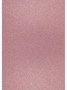 Glitrovaný papier - kartón 200g -  svetlý ružový