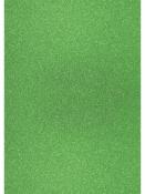 Glitrovaný papier - kartón 200g -  svetlý zelený