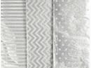 Hodvábny papier 50x70cm - strieborný - 6ks
