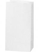 Glitrové papierové vrecúško - 17 cm - biele