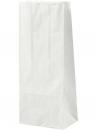 Papierové vrecúško - 24 cm - biele