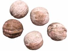 Vlašské orechy farbené 5ks - pastelové ružové