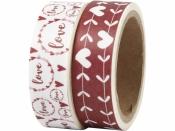 Lepiaca páska (masking tape) vzorovaná 15 mm - láska