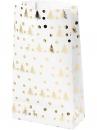 Vianočné papierové vrecúško 21cm - biele