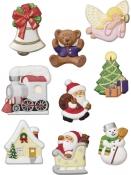 Odlievacia forma na mydlo, sádru, čokoládu - vianoce