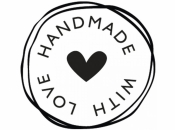 Okrúhla pečiatka - HANDMADE WITH LOVE