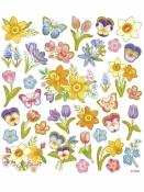 Kreatívne nálepky - jarné kvety