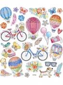 Kreatívne nálepky - balóny a bicykle
