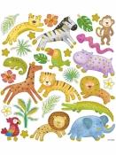Kreatívne nálepky - safari zvieratká