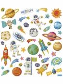 Kreatívne nálepky - vesmír