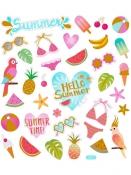 Kreatívne nálepky - summer holiday