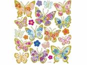 Kreatívne nálepky - kvietkované motýle