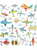 Kreatívne nálepky - lietadlá