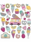 Kreatívne nálepky - zmrzliny
