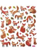 Kreatívne nálepky - líšky