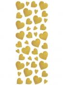 Glitrové nálepky srdiečka - zlaté